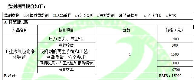 广东建研环境监测-工业废气吸附净化装置费用