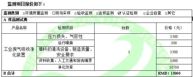广东建研环境监测-工业废气吸收净化装置费用