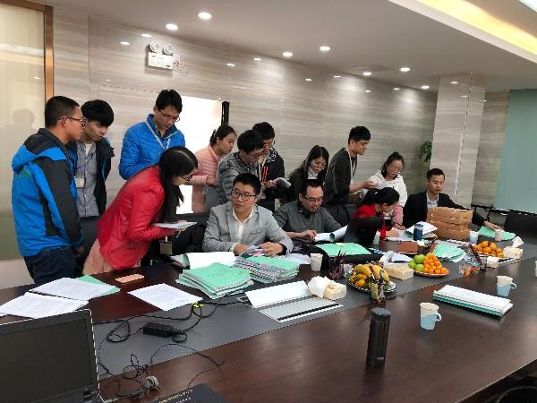 广州京诚检测技术有限公司到我司进行南海污染源项目监理现场检查工作